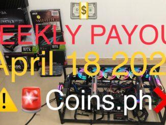 Crypto mining profit | weekly payout April 18 2021| wag muna kayu gumamit ng coins ph