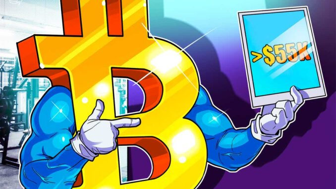 What Bitcoin correction? BTC price holds $55K despite several bearish indicators